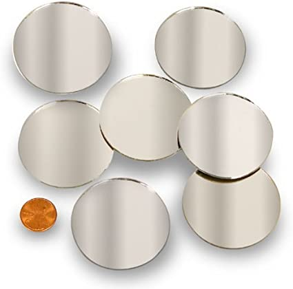 Mini 1 Inch Small Round Glass Mirror Circles for Arts /& Crafts Projects