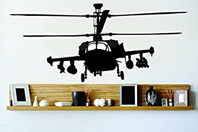 Top Selling Decals - Prices Reduced : Best Selling Cling Transfer : Army War Troop Chopper Wall Sticker Size : 12 Inches X 24 Inches - 22 Colors Available