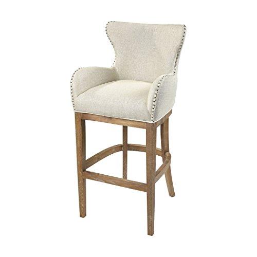 Hamptons Collection Roxie Cream Linen Bar chair