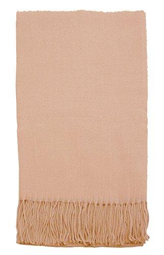 Simplicity Cashmere Blanket Tassels Carmel