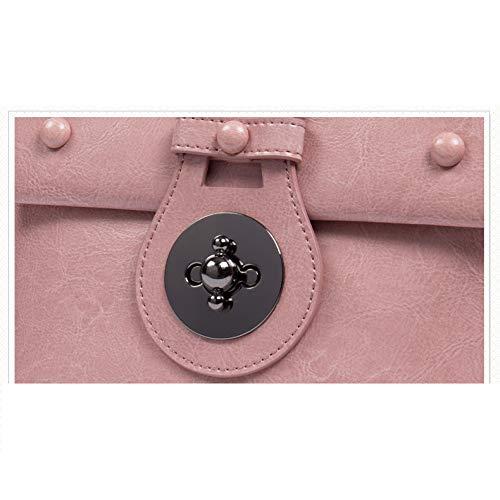 Chaîne Petit en Sauvage Sac Cuir Nouveau du Sac pink Carré Mode Sac Petit à XIAOLONGY Version Marée De Messenger Sac Bandoulière Coréenne Main Sac à zvxHH4Oqfw