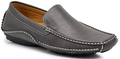 (CFORD Men's Light Weight Casual Cruise Venetian Classic Driving Moccasin Loafer Driver Shoes (11 D(M) US, Gray) )