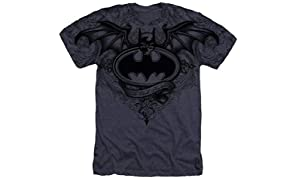 Popfunk Batman Winged Skull Logo All Over T Shirt & Stickers