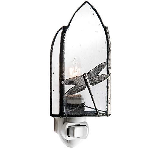 J Devlin NTL 110-2 Dragonfly Glass Decorative Night Light Kitchen Bathroom Bedroom Accent Lite