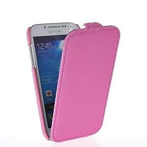 CASEPRADISE Carcasa Cuero Funda Caso Tapa Flip Cover Case Para Samsung Galaxy S4 Mini I9190 Rose