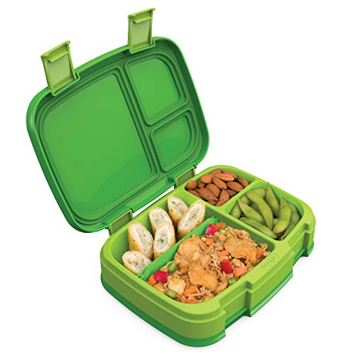 Bentgo Fresh (Green) - New & Improved Leak-Proof, Versatile 4-Compartment Bento-Style Lunch Box - Ideal for Portion-Control and Balanced Eating On-The-Go - BPA-Free and Food-Safe Materials ()