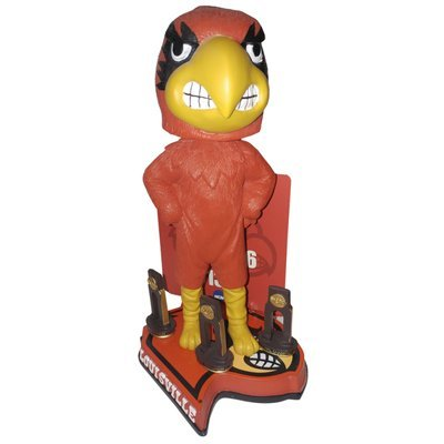 University of Louisville Cardinals Multiple Men's College Basketball National Championships Bobblehead Bobble head - Individually Numbered to Only 216 by Forever Collectibles