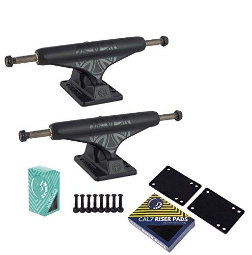 Independent 149 Stage 11 Black Out TC Skateboard Trucks Cal 7 Hardware Riser Pad