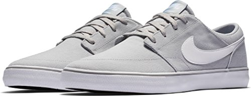 NIKE Men's SB Solarsoft Skateboarding Shoes Grey/White (Imported Mens Shoes)