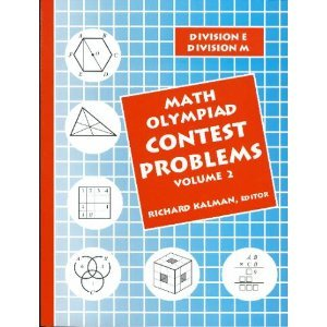Math Olympiad Contest Problems Volume 2 book by Grant Duffrin