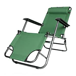 Amazon Com Folding Armrests Beach Portable Reclining Camp