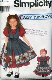 - Simplicity Daisy Kingdom Sewing Pattern 5819 ~ Girl's Dress and Pinafore (3,4,5,6) ~ 18