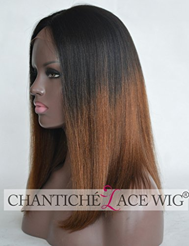 Chantiche-Ombre-Brown-Short-Bob-Wig-3-Middle-Deep-Parting-Silk-Top-Human-Hair-Lace-Front-Wigs-For-Black-Women-Best-Light-Yaki-Straight-Dark-Roots-Two-Tone-Brazilian-Remy-Hair-Wigs-16-Inch
