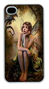 Her Secret Fairy Custom For Apple Iphone 4/4S Case Cover Polycarbonate White