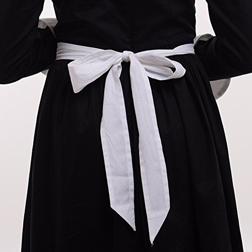 GRACEART Pilgrim Pioneer Colonial Girl Costume Accessories 100% Cotton Apron & Bonnet (US Size-06,Bonnet & Apron) by GRACEART (Image #7)