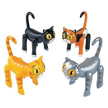 Inflatable Cat Assortment - 12 pc