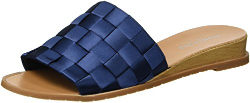 - Kenneth Cole New York Women's Joanne Slide Sandal Woven Satin, Navy 9.5 M US