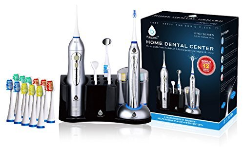 Pursonic S625 Rechargeable Sonic Toothbrush and Rechargeable Water Flosser with 12 Brush Heads [並行輸入品] B07N86LYG4