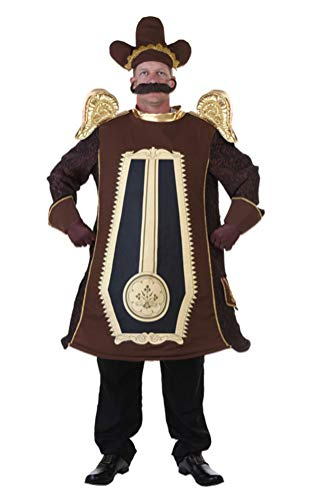 (COSKING Cogsworth Costume for Men, Adult Deluxe Halloween Cosplay Outfit (One Average)