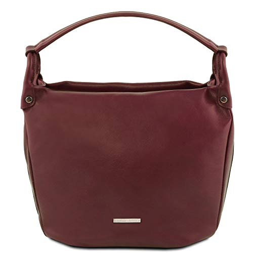 Tlbag Brown Soft Leather Dark Hobo Bordeaux Tuscany Bag wBqU5ORBC