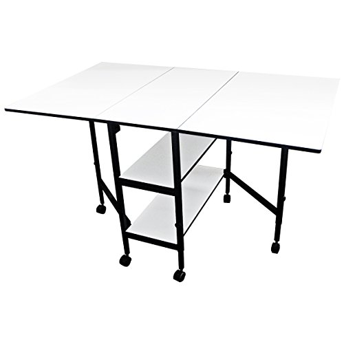 Sullivans Home Hobby Adjustable Height Foldable Table, 59 x 35.8'' by Sullivans