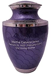 Cremation Urn, Lavender Adult Funeral Cremation Urns With Personalization and keepsake