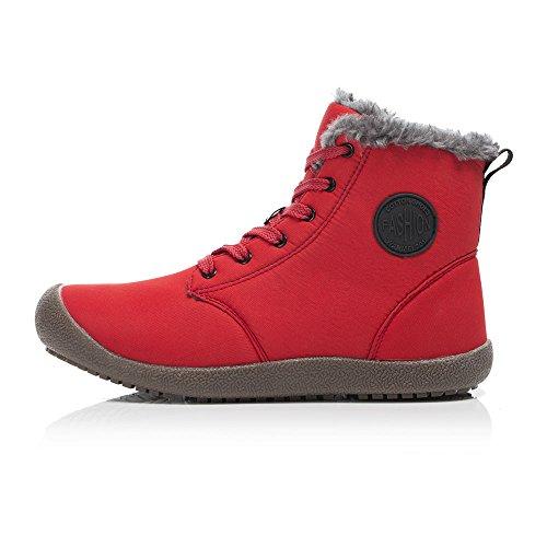 Uomo Rosso il Scarpe Scarpe Neve Tempo Caviglia Libero Stivaletti FLARUT Invernali per Stivali e Donna Antiscivolo per Boots Calde Invernali 7qSaxwH