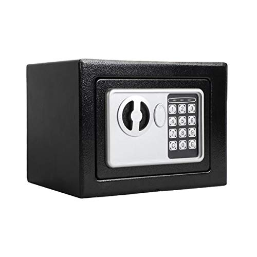 PEATAO Safe Box with Digital Keypad Wall-in Style Electronic Code Metal Steel Box Safe Case for Home, Hotel, Office [US Stock] (Black)