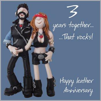 Third Wedding Anniversary.3rd Wedding Anniversary Card