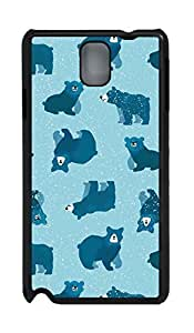 Fashion Style With Digital Art - Lovely Bear Skid PC Back Cover Case for Samsung Galaxy Note 3 N9000
