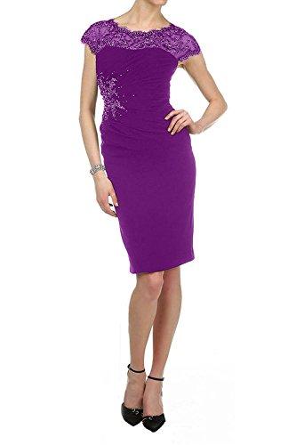 La Chiffon Kurz Knielang Elegant mia Partykleider Festlichkleider Etuikleider Violett Abendkleider Brautmutterkleider Braut rtwr7Zqp