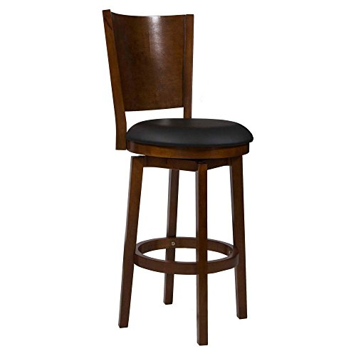 Powell Cherry Bar Stools (Powell Furniture Big and Tall Solid Back Wood Bar Stool)