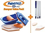 Paint Pad Pro Bumper Paint Pad Set c/w Optional Extension Pole and 6 Additional Pads. Recommended by TV DIY Expert Tommy Walsh