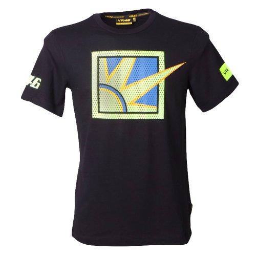 Official Valentino Rossi VR46 Sun & Moon T-Shirt Black Moto GP