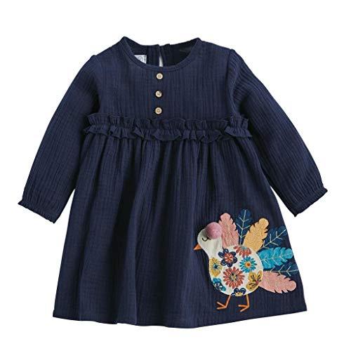 Mud Pie Kids Girls Thanksgiving Turkey Denim Chambray Dress 3-6 Months