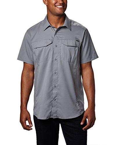 Columbia Mens Silver Ridge Lite Short Sleeve Shirt, Grey Ash, Medium