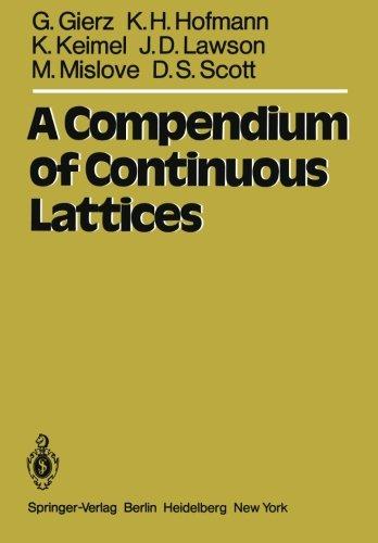 A Compendium of Continuous Lattices