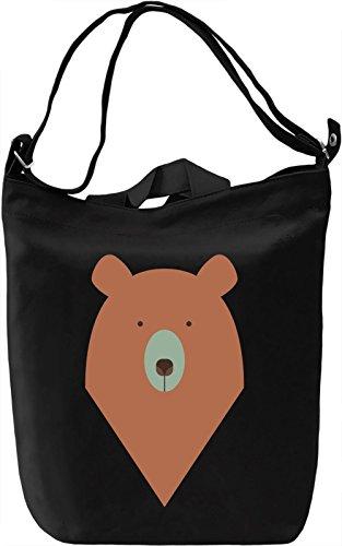 Graphic bear Borsa Giornaliera Canvas Canvas Day Bag| 100% Premium Cotton Canvas| DTG Printing|