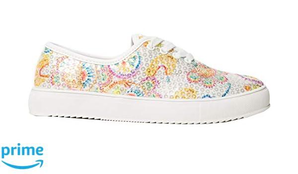 Desigual - Zapatillas de Sintético para Mujer Blanco Blanco: Amazon.es: Zapatos y complementos