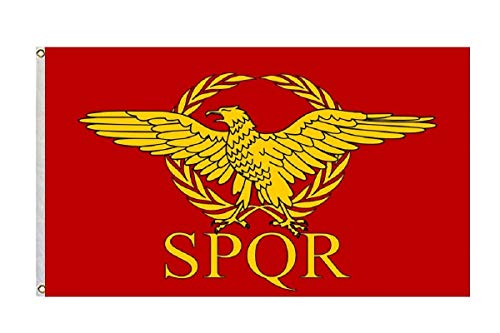 FayLagee-yx Roman Empire Senate and People of Rome 3'x5 ' Flag Banner (The Senate And The People Of Rome)