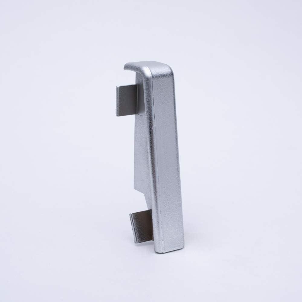 Abschluss Links, Uni Buche//Kirsche Innen und Au/ßenecken Verbinder und Abschl/üsse f/ür Sockelleisten 60mm