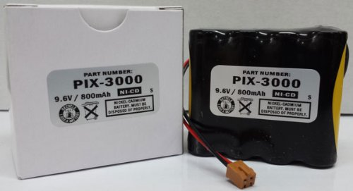 (Ni-Cad Battery Replacement for PIX-3000x Time Clock AJR-111000 Compatible)