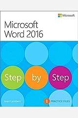 Microsoft Word 2016 Step By Step Paperback