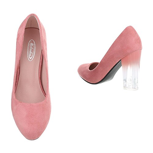 Schuhcity24 Damen Schuhe Pumps High Heels Rosa