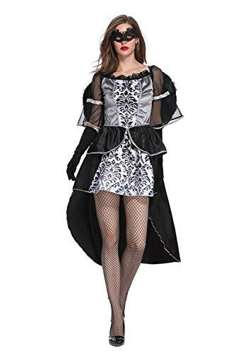 CHECKIN? Halloween Women Night Fallen Angel Cosplay Costume Devil Witch Dress with Wing