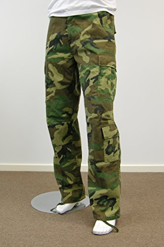 BACKBONE Mens Military Army Style Camouflage Cargo Pants for Fishing Hunting Gaming Camping