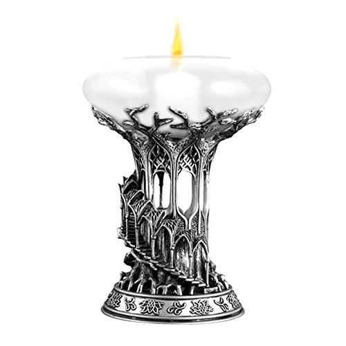 Lord Glass Candle Holder - Official LOTR Mallorn Tree Lothlorie Candle Holder - Boxed