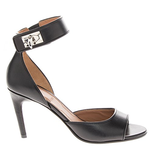 Givenchy-Shark-Line-Tooth-Twist-Lock-Ankle-Strap-Leather-Sandal-Heel