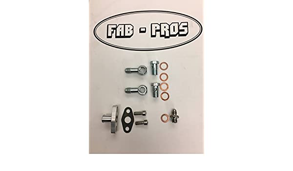 Amazon.com: Complete Oil / Coolant Fitting Flange KIT! for Borg Warner Turbo EFR Turbos -> 5/8 Barb: Automotive