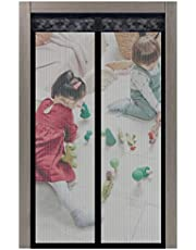 Magnetic Screen Door 39X82 Inches Upgrade Door Screen with Strong Magnet Heavy Duty Mesh Anti Mosquito Bugs Curtain Closure Fits Back Doors Balcony Kid Pet Dog Cat Walk Through Friendly